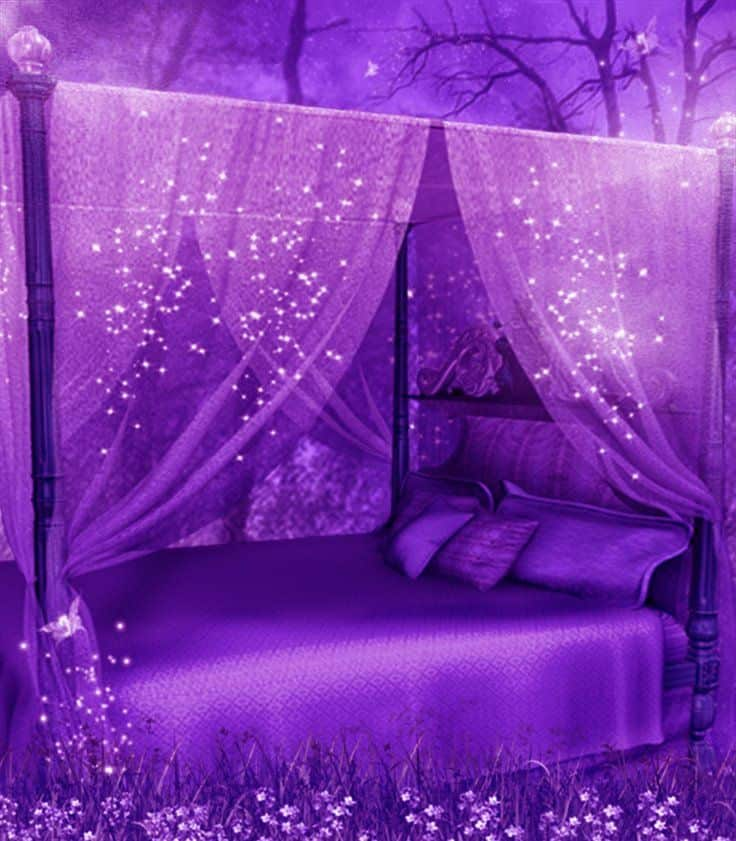 19 beautiful canopy beds that will create a majestic for Purple bedroom ideas tumblr