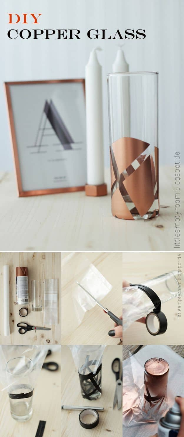 REVAMP YOUR FAVORITE GLASSWARE WITH A SPRAY PAINT COAT OF COPPER