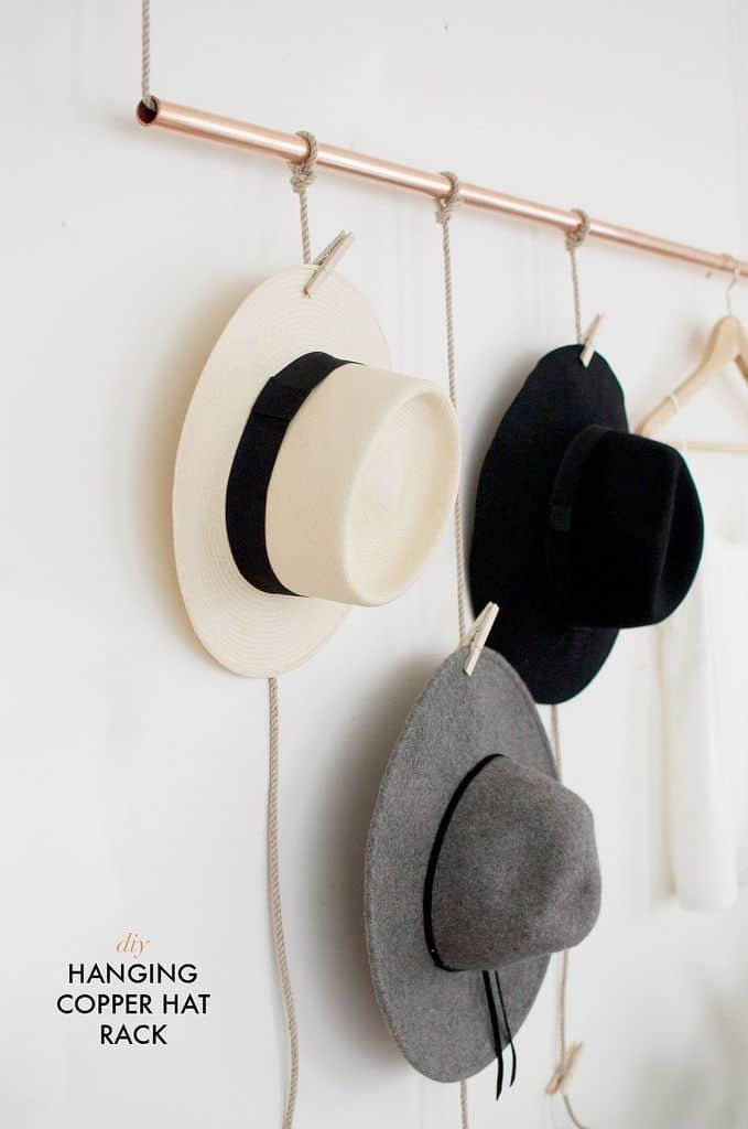 TAKE THE TIME TO MAKE YOUR OWN DIY COPPER HAT RACK