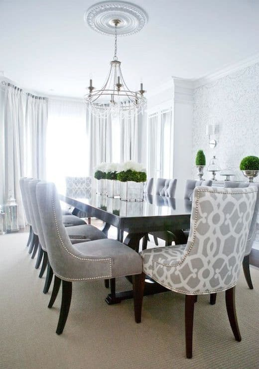 Dark Wood Dining Room Chairs good looking parson chairs method toronto contemporary dining room decorating ideas with area rug dark wood floor gray trim iron chandelier parsons chair 20 Dining Room Table Furniture Ideas 1