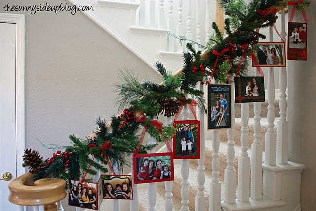 20 Magical And Crafty Ways To Decorate An Indoor Staircase This Christmas (17)