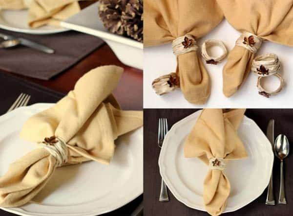 20 Super Beautiful DIY Napkin Rings For Your Cozy Thanksgiving homesthetics decor (15)