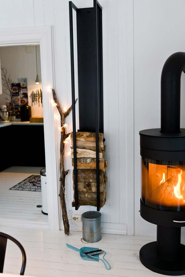 21 Stunning Firewood Storage Focal Points & Their Magical Fireplaces homesthetics decor (11)