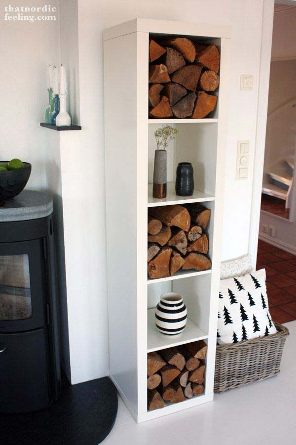 21 Stunning Firewood Storage Focal Points & Their Magical Fireplaces homesthetics decor (12)