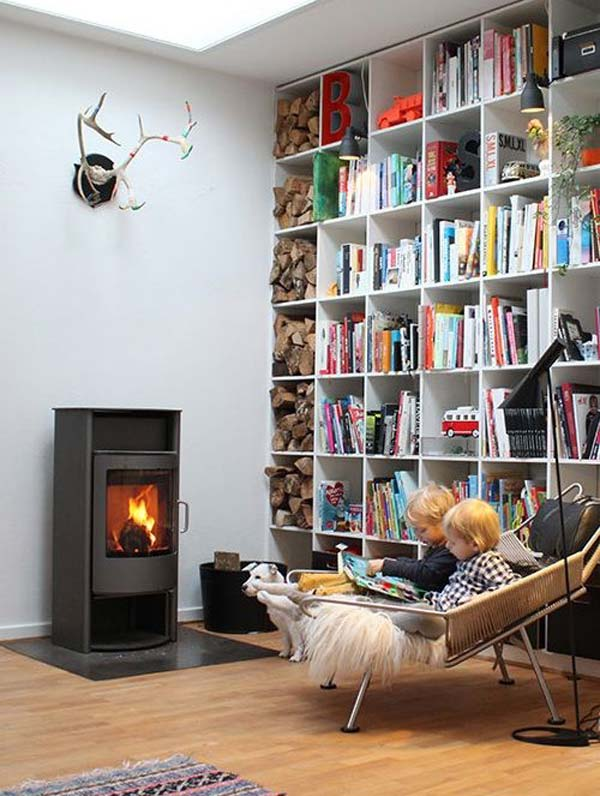 21 Stunning Firewood Storage Focal Points & Their Magical Fireplaces homesthetics decor (13)