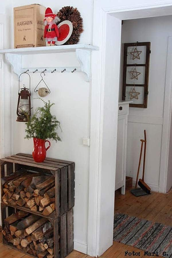 21 Stunning Firewood Storage Focal Points & Their Magical Fireplaces homesthetics decor (14)
