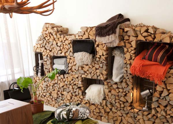 21 Stunning Firewood Storage Focal Points & Their Magical Fireplaces homesthetics decor (16)