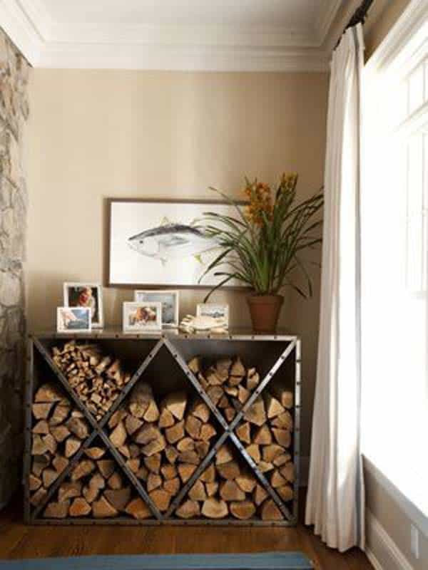 21 Stunning Firewood Storage Focal Points & Their Magical Fireplaces homesthetics decor (17)
