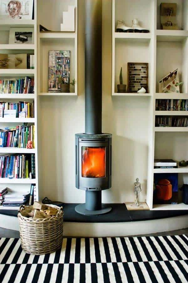 21 Stunning Firewood Storage Focal Points & Their Magical Fireplaces homesthetics decor (2)
