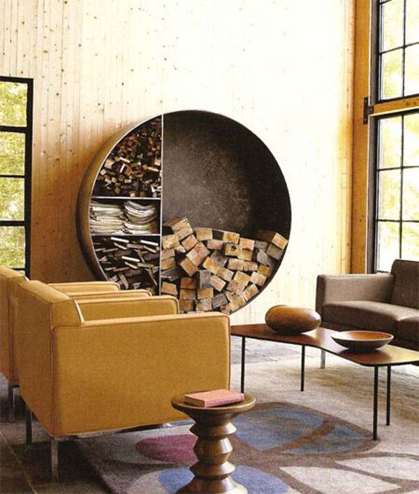 21 Stunning Firewood Storage Focal Points & Their Magical Fireplaces homesthetics decor (4)