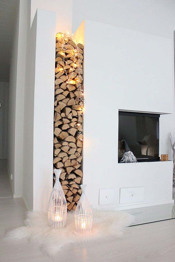 21 Stunning Firewood Storage Focal Points & Their Magical Fireplaces homesthetics decor (5)