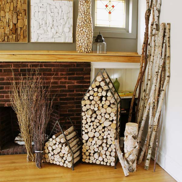 21 Stunning Firewood Storage Focal Points & Their Magical Fireplaces homesthetics decor (6)