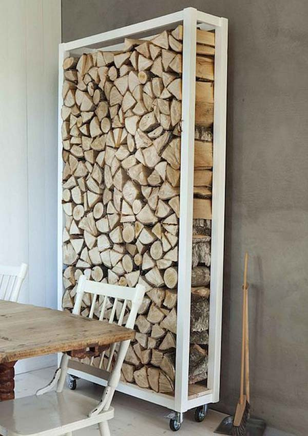 21 Stunning Firewood Storage Focal Points & Their Magical Fireplaces homesthetics decor (7)