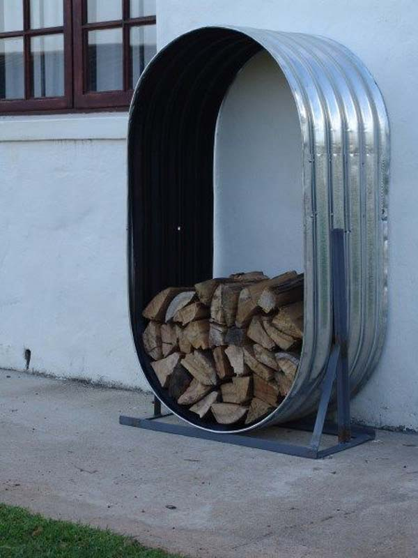 21 Stunning Firewood Storage Focal Points & Their Magical Fireplaces homesthetics decor (9)