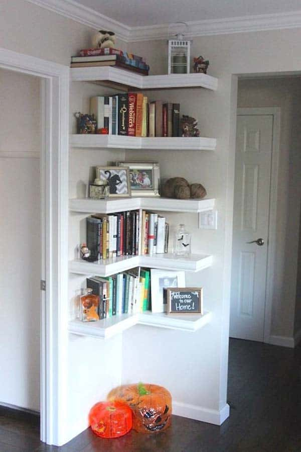 #2 CREATE A SMALL CORNER LIBRARY IN YOUR HOME