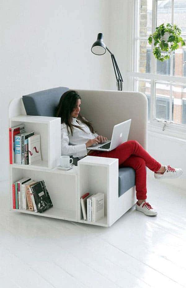 #22 USE VERSATILE FURNITURE THAT CAN STORE YOUR BOOKS
