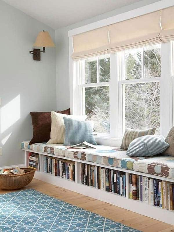 #3 CREATE A WINDOW READING NOOK THAT HOSTS BOOKS