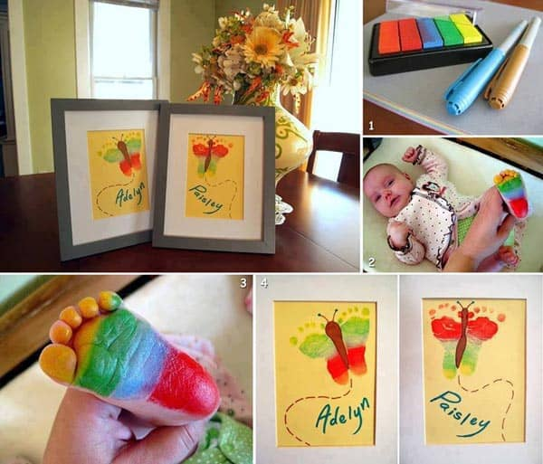 28 Fun and Playful Hand and Footprint Decor Ideas For Happy Families homesthetics fun ideas (11)