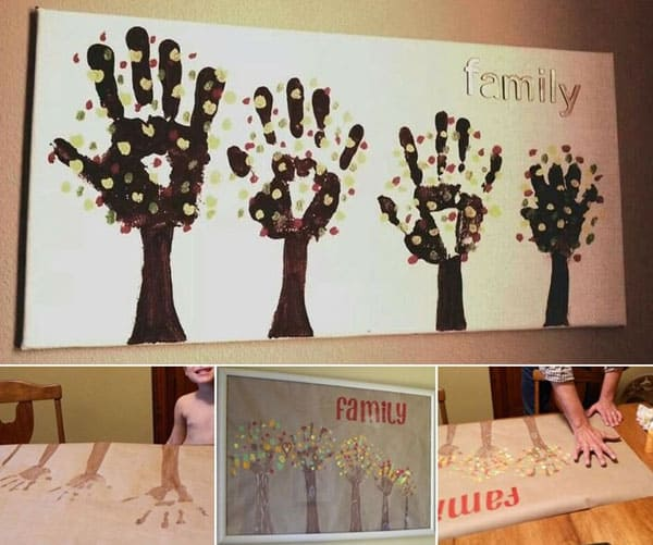 28 Fun and Playful Hand and Footprint Decor Ideas For Happy Families homesthetics fun ideas (3)