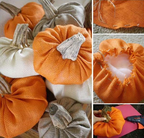 #3 CREATING PUMPKIN FALL DECORATIONS FOR YOUR HOUSEHOLD CAN REVOLVE AROUND AUTUMN COLORED BURLAP