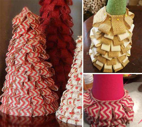 #29 CREATE YOUR  OWN CHRISTMAS TREE YOURSELF FROM BURLAP LAYERS