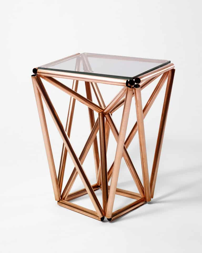 DIY COPPER PROJECTS - ELEGANT DIY COPPER PIPE & GLASS SIDE TABLE PROJECT