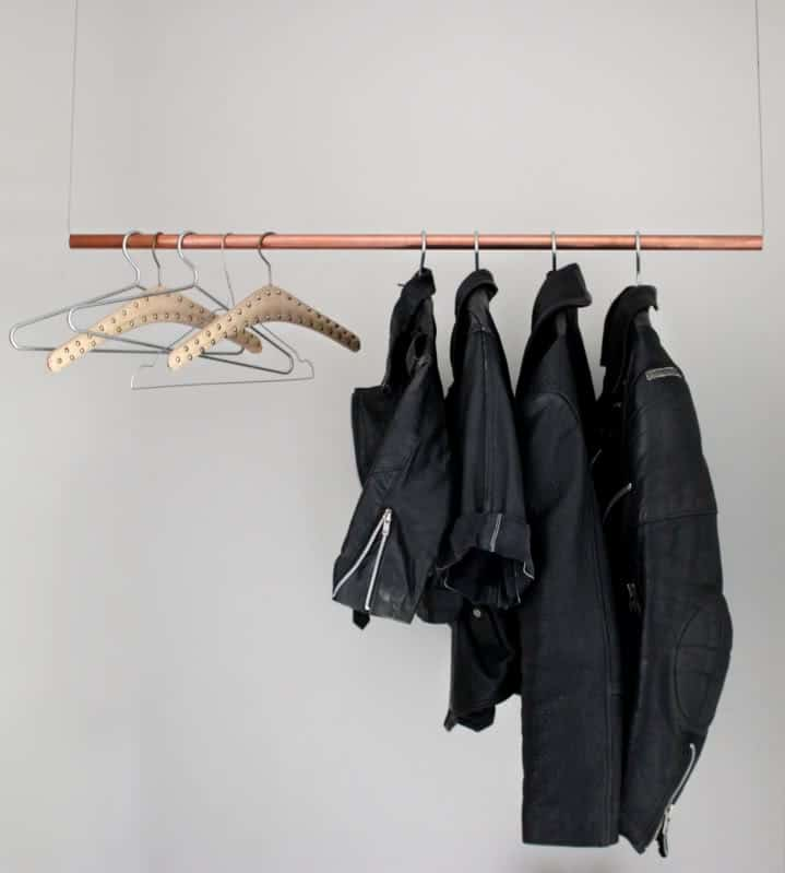 A COPPER FLOATING CLOTHING RACK COULD BE VERY HANDY