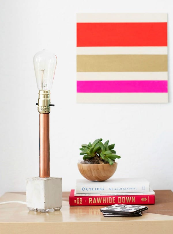 DIY COPPER & CONCRETE LAMP
