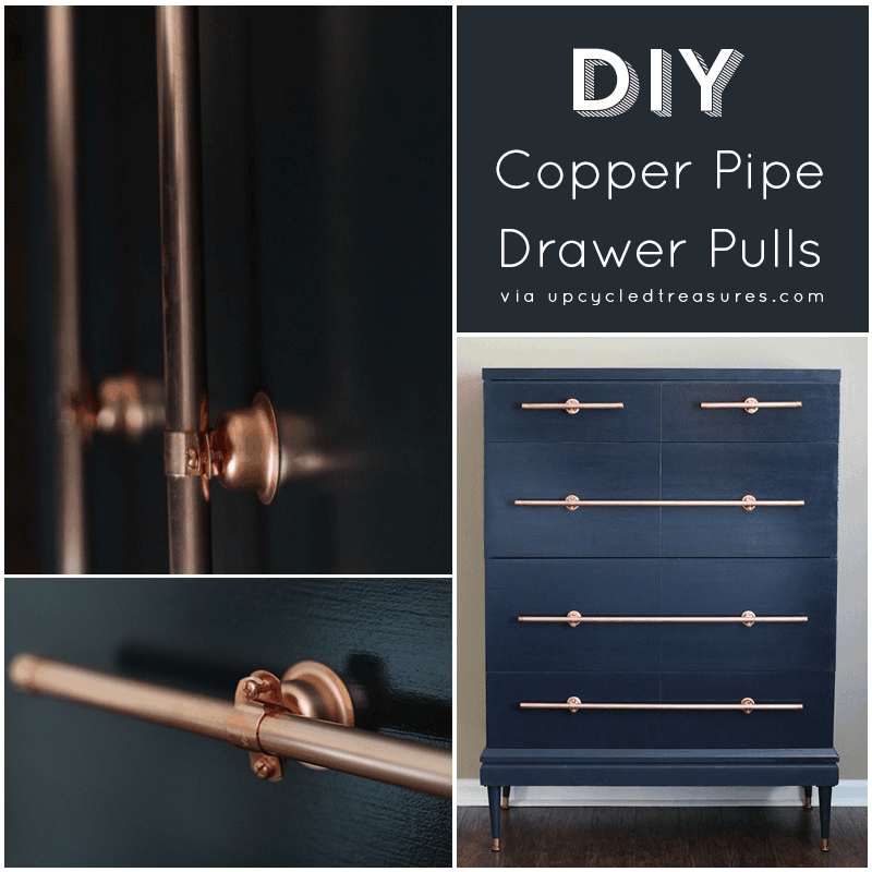 DIY COPPER PIPE DRAWERS PULLS