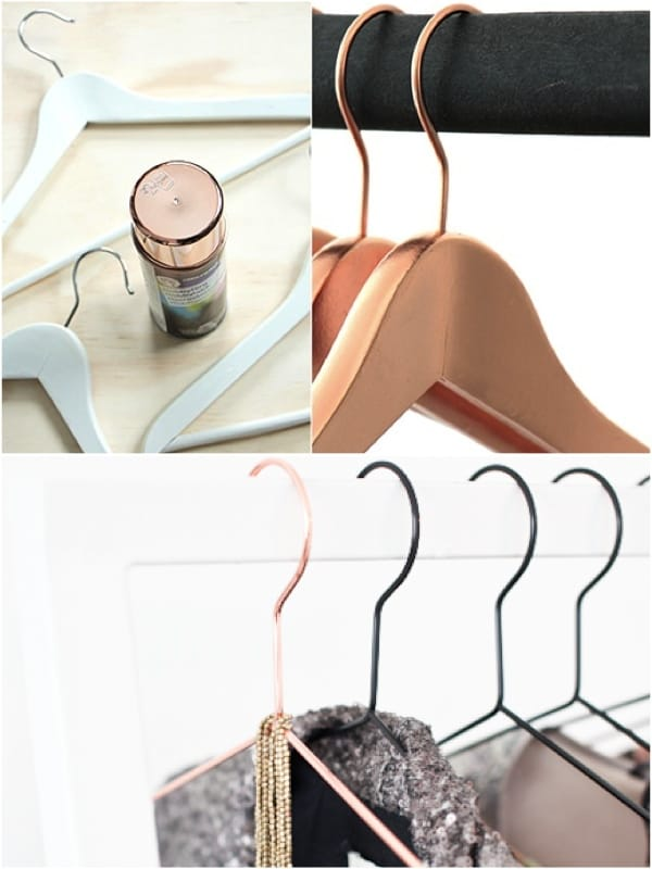 DIY COPPER HANGERS CAN BE A HANDY ADDITION IN YOUR CLOTH CABINET