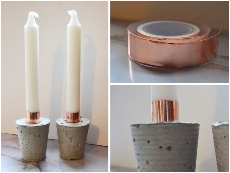 TRY THESE LOVELY DIY COPPER TAPE CANDLES
