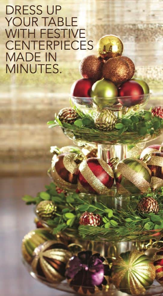 christmas centerpieces that will embellish your dining room decor for the holidays 11 - Cheap Christmas Centerpieces