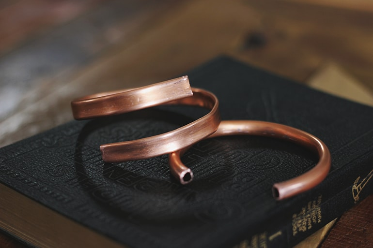 SMALL DIY COPPER CUFF