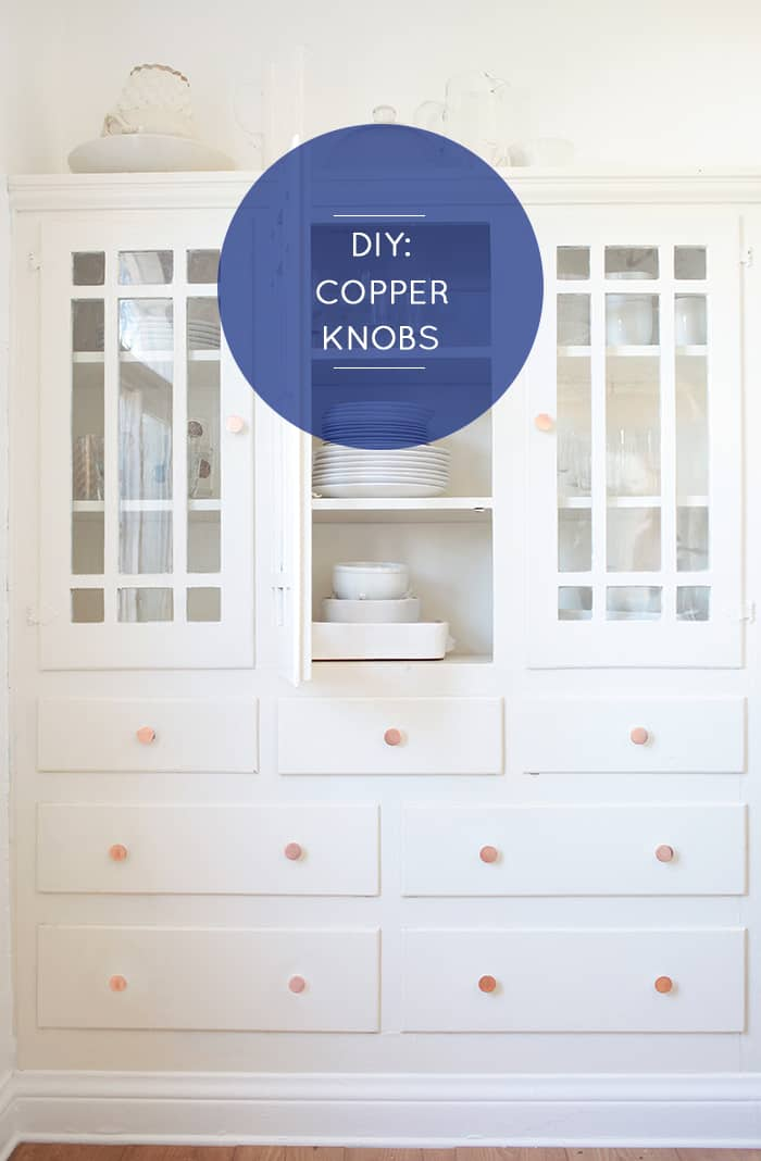 DECORATE YOUR DRAWERS WITH THESE DIY COPPER KNOBS
