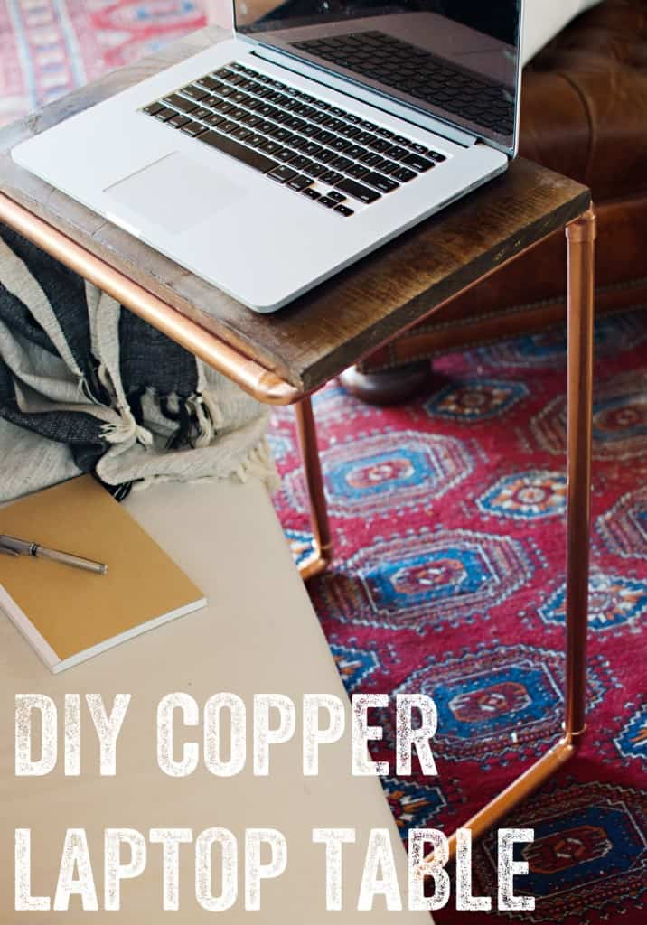 WORK ON YOUR ASSIGNMENTS COMFORTABLE WITH THIS DIY COPPER LAPTOP TABLE