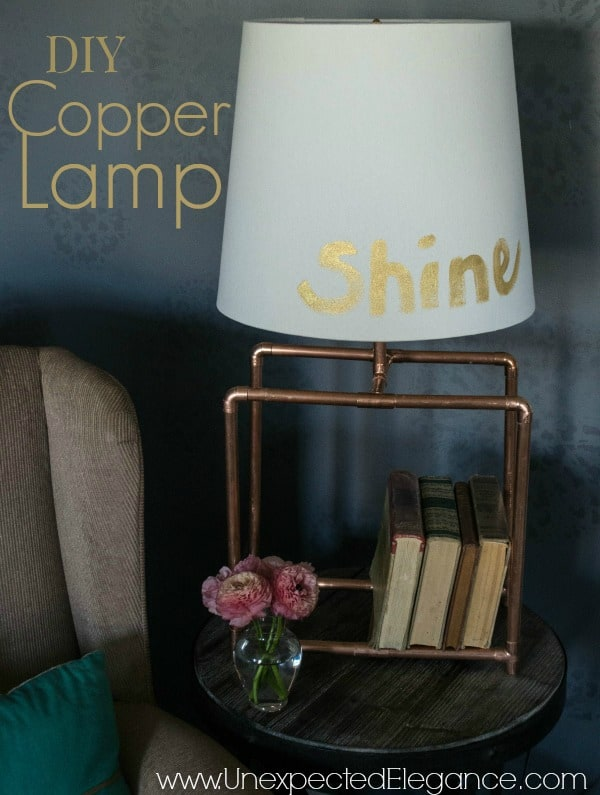 TRY THIS COPPER TABLE LAMP