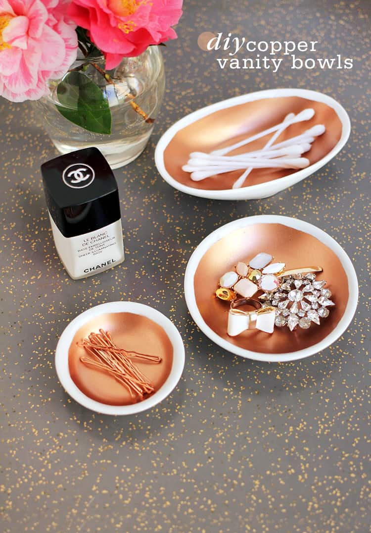 CREATE THESE LOVELY DIY COPPER VANITY BOWLS
