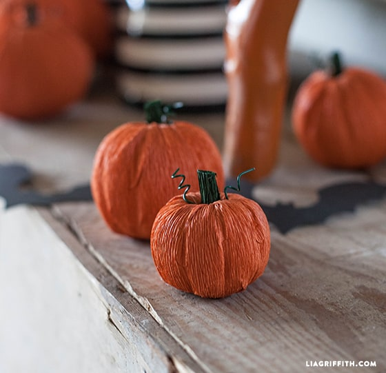 2. CREPE FALL PUMPKINS FOR YOUR DINNER TABLE