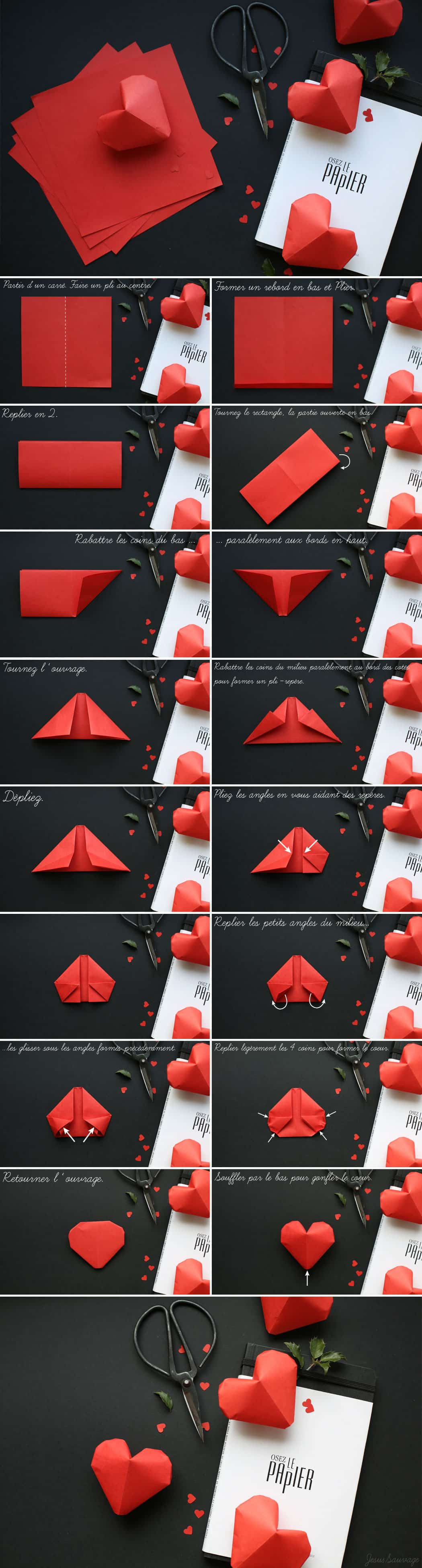 10. DIY ORIGAMI LITTLE PAPER HEARTS FOR THE ROMANTIC IN YOU