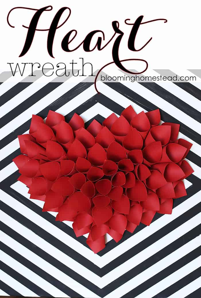 7. DIY PAPER HEART WREATH