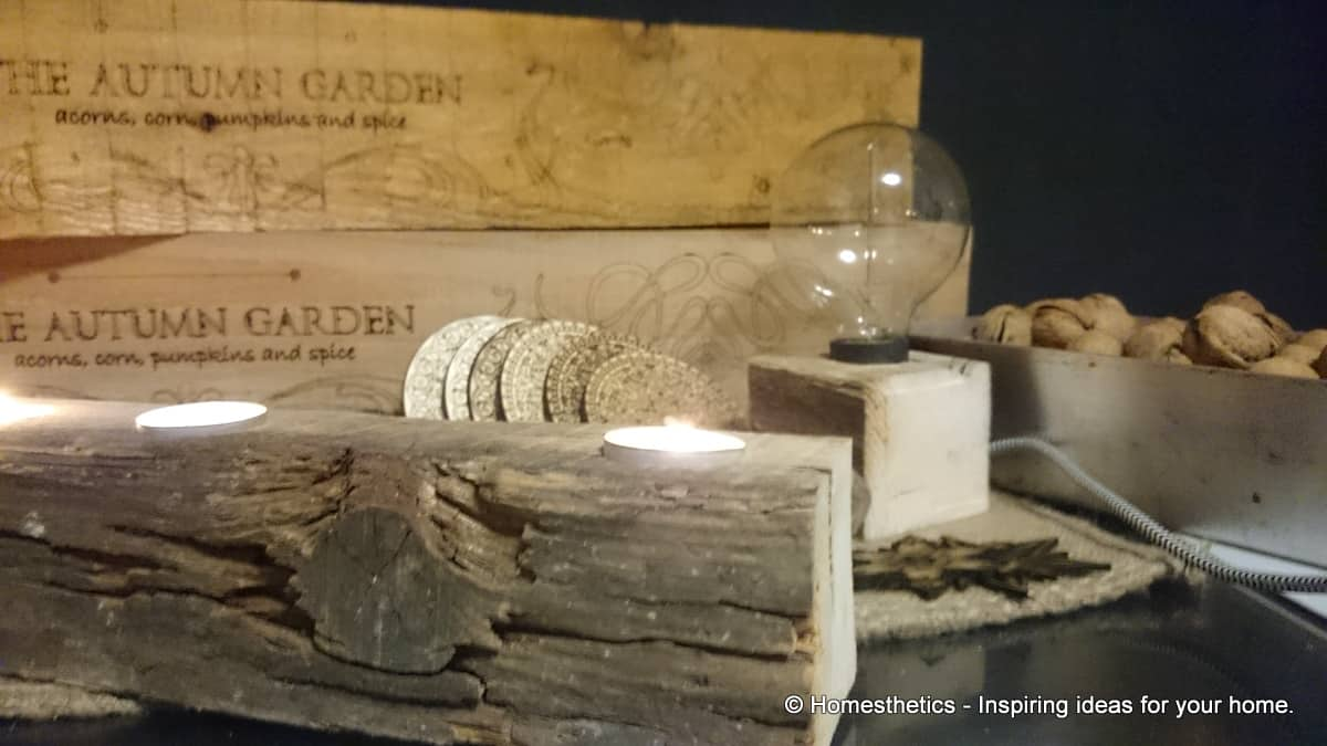#3 create a simply breathtaking rustic desk lamp
