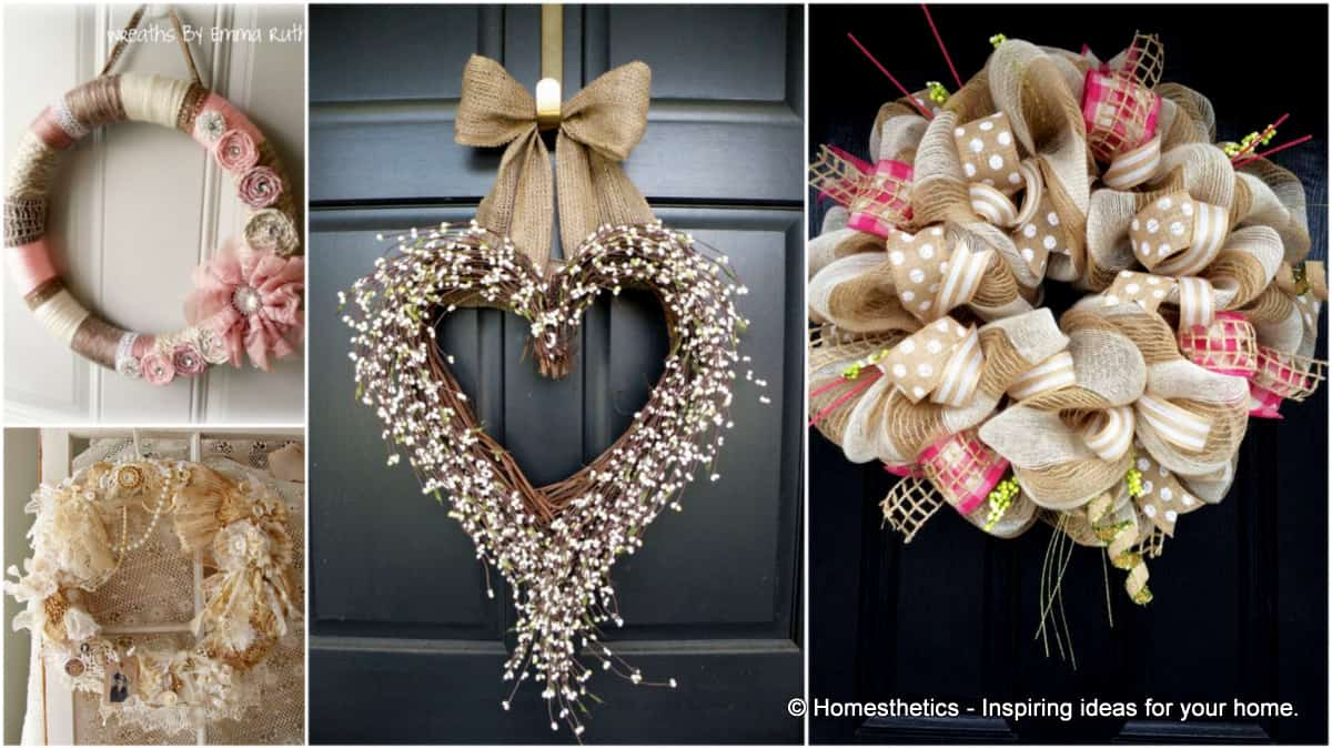 Superb 22 Versatile Shabby Chic Christmas Wreaths That Can Be Used All Year Round
