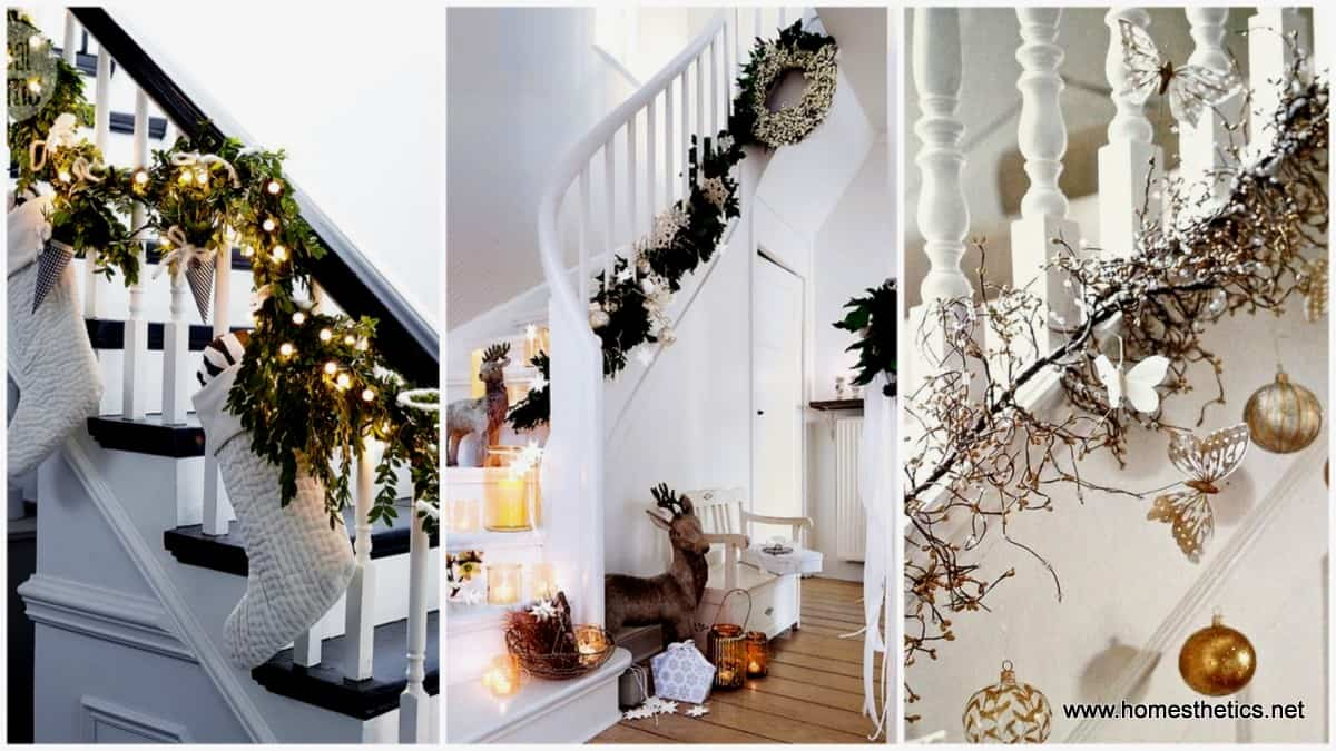 20 magical and crafty ways to decorate an indoor staircase this christmas
