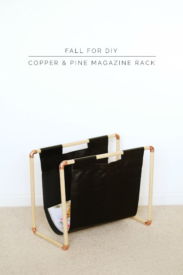 ORGANIZE YOUR MAGAZINES IN THIS DIY COPPER MAGAZINE RACK