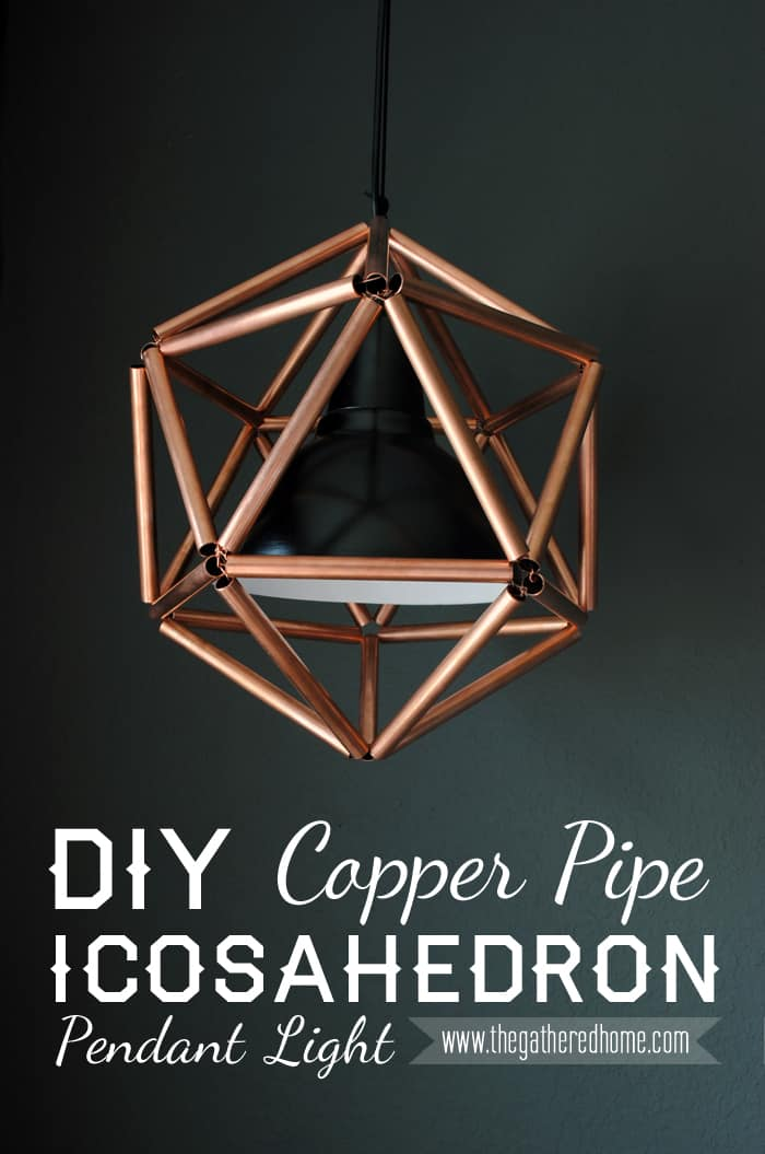 A DIY COPPER PIPE ICOSAHEDRON PENDANT LIGHT WITH ITS ELEGANT BEAUTY