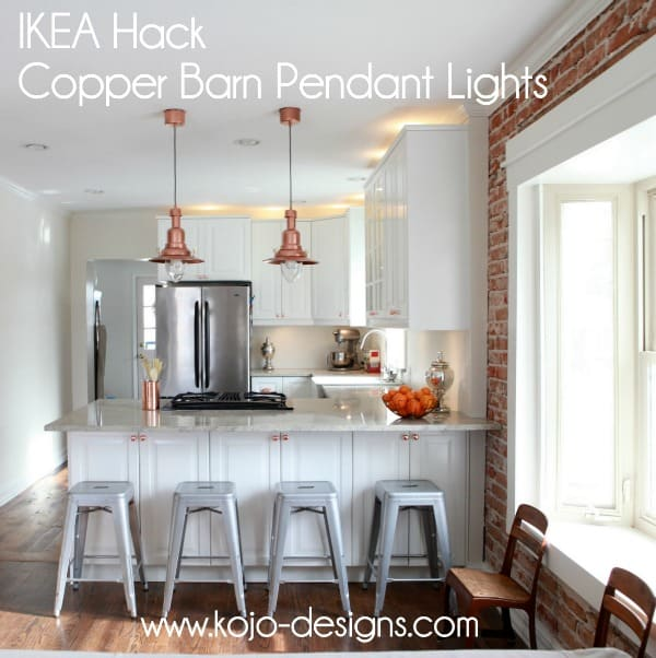 THESE IKEA HACK COPPER BARN PENDANT LIGHTS ARE WORTH TRYING