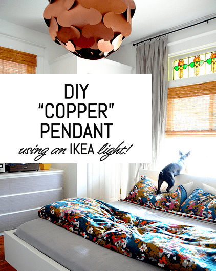 A STUNNING DIY COPPER PENDANT IKEA LIGHT HACK