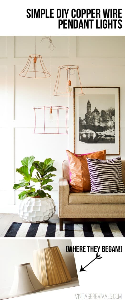 A VERY CREATIVE DIY COPPER WIRE PENDANT LIGHT Vintage Revivals