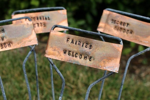 TRY THESE RUSTIC HAND STAMPED GARDEN MARKERS