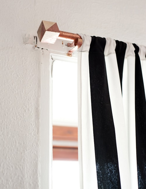 BE CREATIVE WITH A NEW DIY COPPER CURTAIN ROD